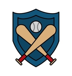 baseball bat isolated icon vector image
