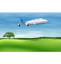 big commercial plane vector image