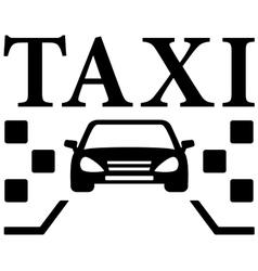 cab black icon vector image vector image