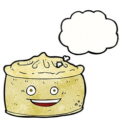 Cartoon pie with thought bubble vector