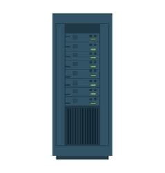 Computer desktop server isolated icon vector