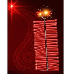 Diwali festival crackers vector