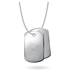 Dog tag on white background vector