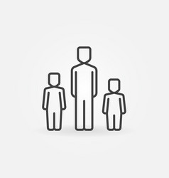 Father with two children icon vector