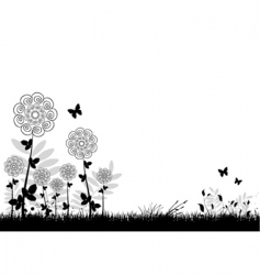 flowers background vector image vector image