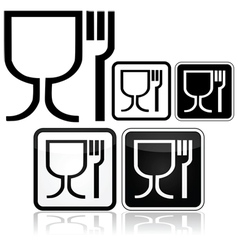 Food safe icons vector image vector image