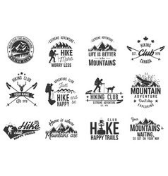 hiking club badge vector image vector image