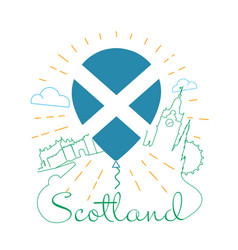 Logo for travel to scotland vector