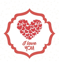 Love design vector image vector image