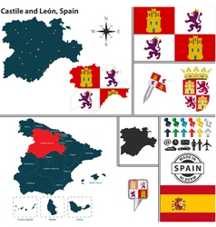Map of castile and leon vector