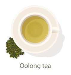 Oolong tea icon cartoon style vector