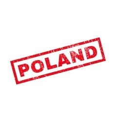 Poland rubber stamp vector
