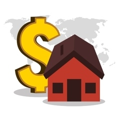real estate house investment isolated design vector image