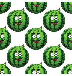 Seamless pattern of cartoon watermelons vector image vector image