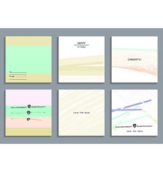 Set of artistic creative universal cards vector