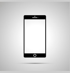 smartphone silhouette simple black icon vector image
