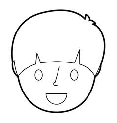 Smiling young face boy cartoon male vector