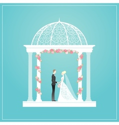 Wedding arch vector image