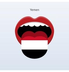 Yemen language abstract human tongue vector