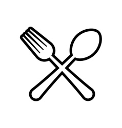 Cutlery product silhouette icon graphic vector