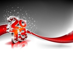 Happy new year design with shiny 2013 text vector