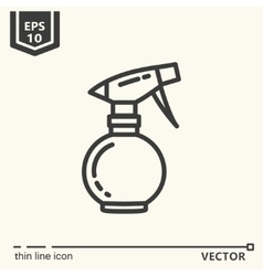Hairdressing tools icons series spray bottle vector