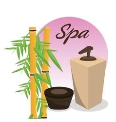 Spa body care cream bamboo vector