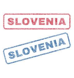 Slovenia textile stamps vector
