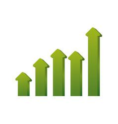Arrows up increase vector