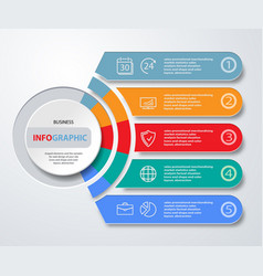 Infographics web marketing icons for layout vector