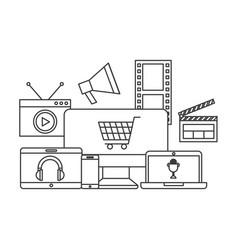 Multimedia devices design vector