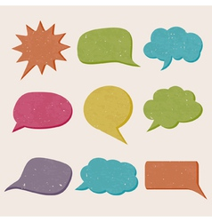 Grungy speech bubbles vector