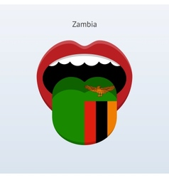 Zambia language abstract human tongue vector