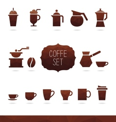 Coffe set vector
