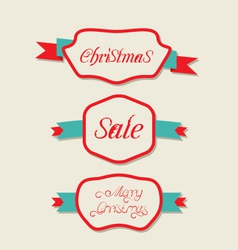 Christmas set variation vintage labels with text vector image