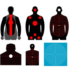 Human silhouette target vector