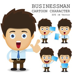 Businessman cartoon character eps 10 vector