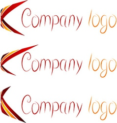 Set of company logos vector