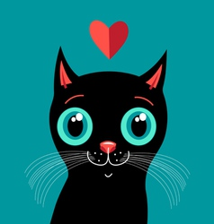 Love with a kitten vector