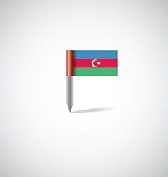 Azerbaijan flag pin vector
