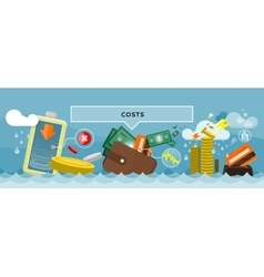 Costs concept design style flat vector