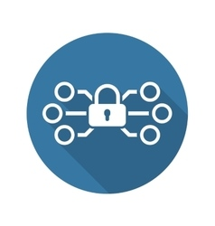 Network protection icon flat design vector