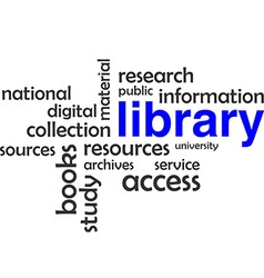 Word cloud library vector