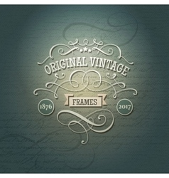 Retro label with flourishes vector