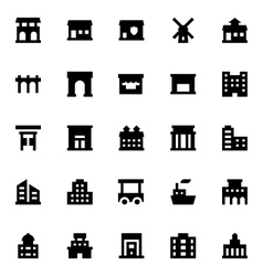 City Elements Icons 10 vector image
