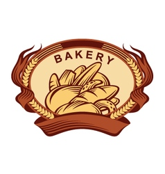 Banner with bread vector