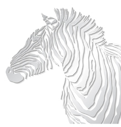 Animal of zebra silhouette vector