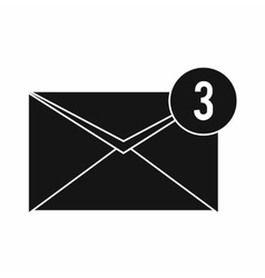 Envelope with three messages icon vector