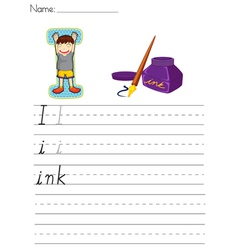 Alphabet worksheet vector
