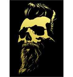 Barber skull vector